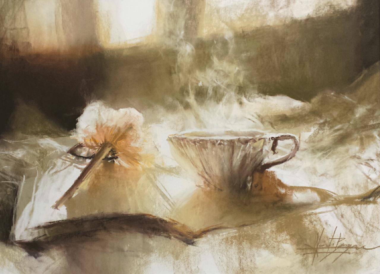 Lecture et tasse de thé...