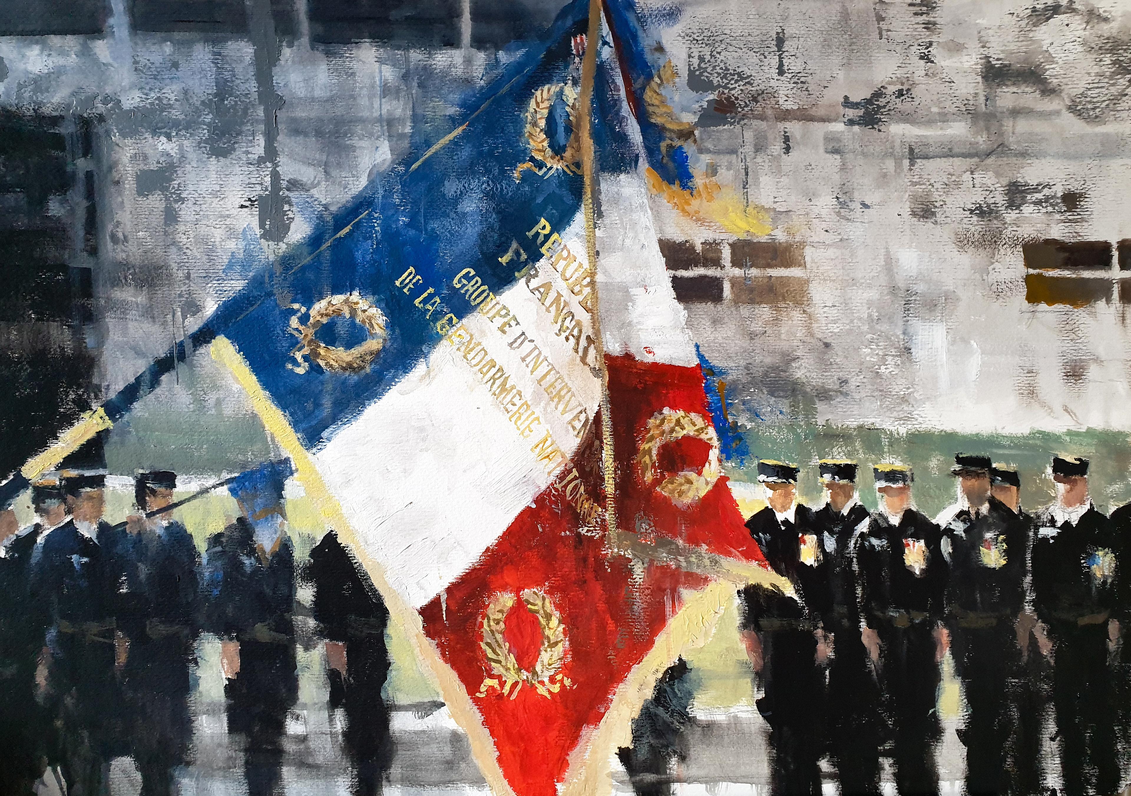Présentation au drapeau